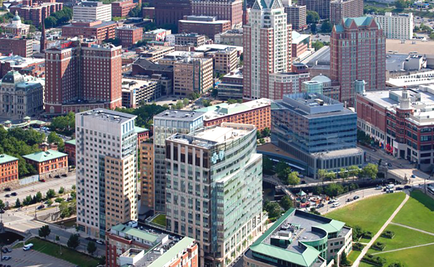 Capital Center in downtown Providence, RI